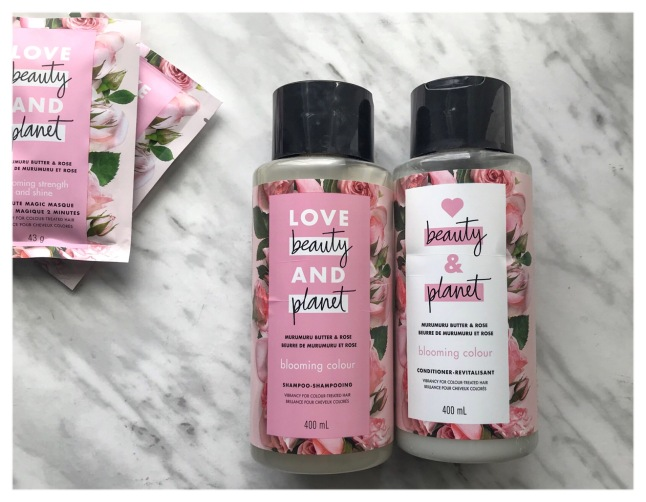 Love, Beauty & Planet Shampoo and Conditioner